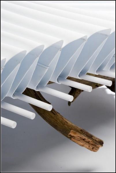 Компиляция трех материалов в скамейке Bench No.3