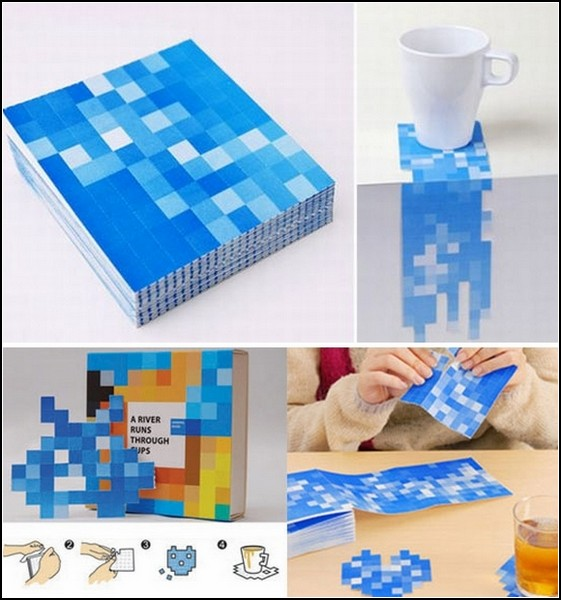 Pixel punch coasters