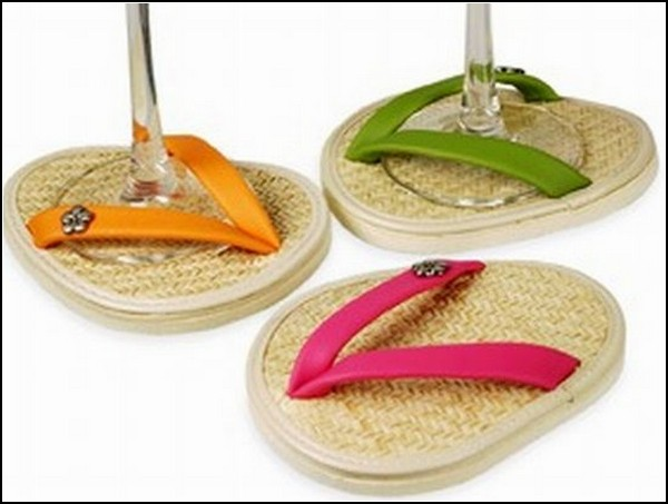 Sandal drink coasters