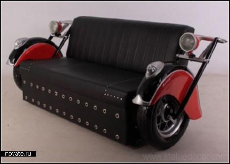 Винтажный автомотодиван Bike Sofa