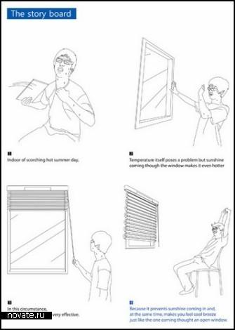 Концепт Blind Air Conditioner. Жалюзи с кондиционером, работающие от энергии солнца