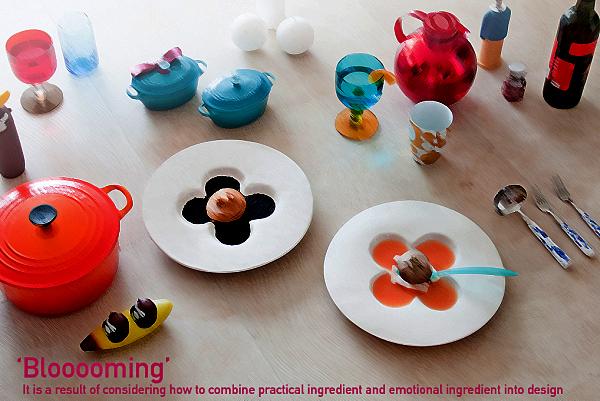 Blooooming Ceramic Dish: цветущая посуда от Ahhaproject