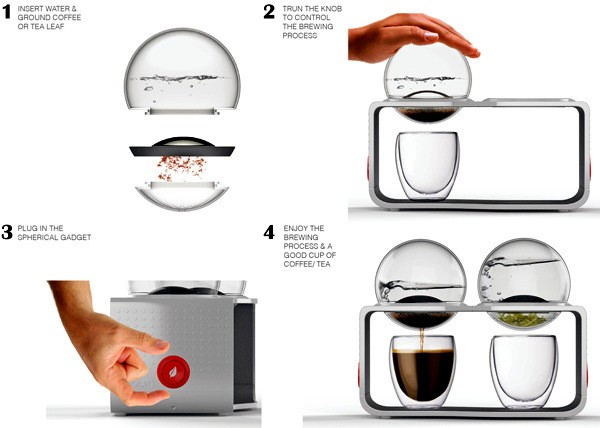 Установка Bodum Coffee & Tea Maker, проект дизайнера Sunny Ting Wai Wong