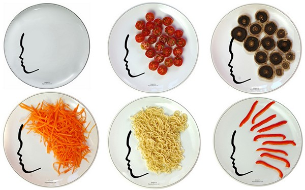 Тарелки с прическами от Boguslaw Sliwinski