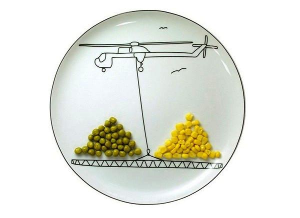 Детские тарелки Transportation plates от Богуслава Сливинского