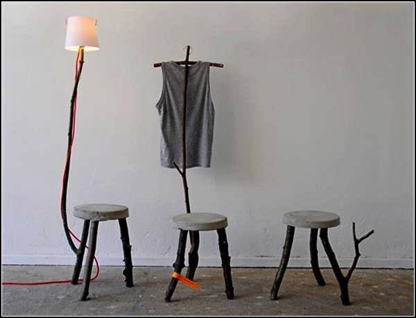 Сухие ветки в интерьере. Мебель Branches Collection
