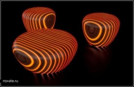 Светящаяся мебель от дизайнера Giancarlo Zema