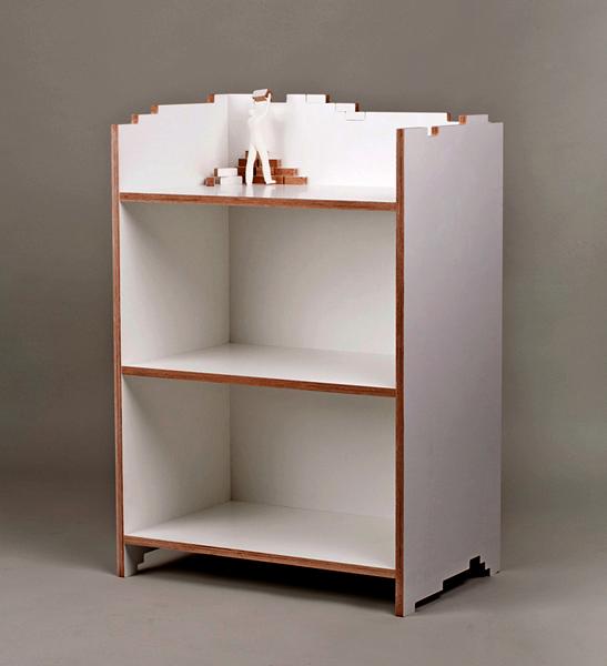 Книжный шкаф, который еще строится. Проект Build me up от Mejd Studio