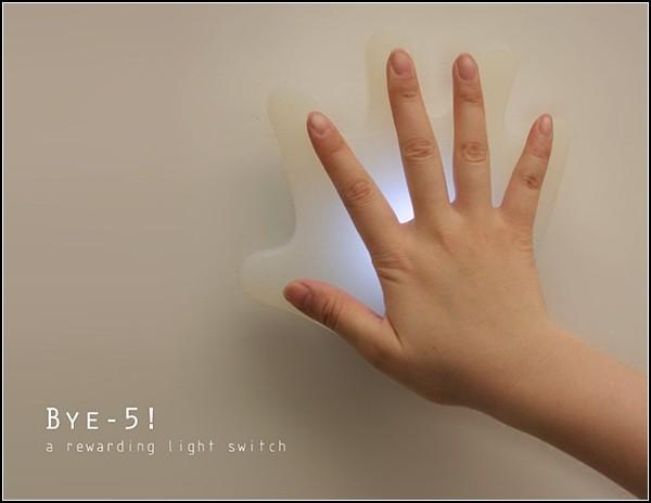 Выключатель Bye-5, дружелюбный концепт
