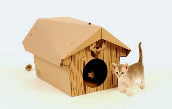 Canadian Cat Cabin, или оригинальный кошачий домик из картона