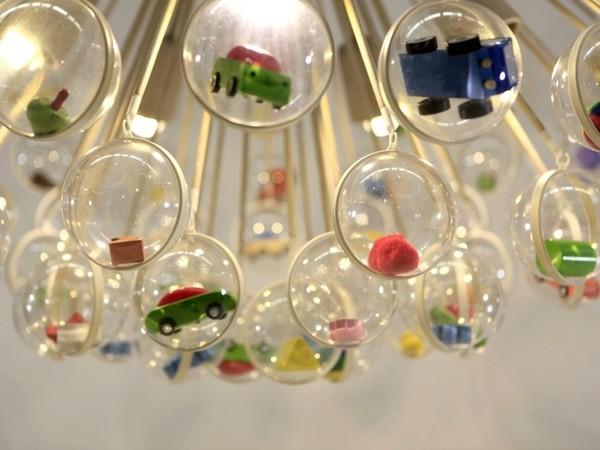 Capsule Lamp, дизайнерский светильник с капсулами для мелочей