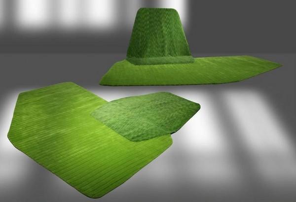 Sail Carpet, шерстяной ковер со встроенным *креслом*