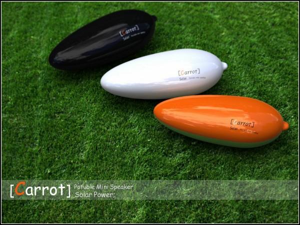 Carrot solar speaker. Креативные колонки для зайцев-меломанов