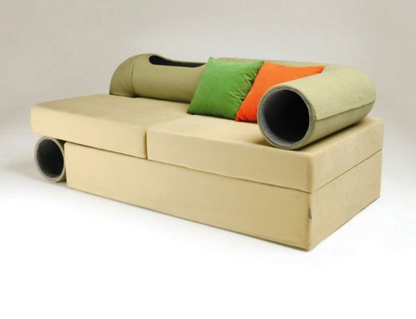 Дизайнерский диван Cat Tunnel Sofa, и коту, и хозяину на радость