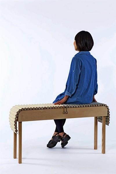 Сидение, которое можно скатать в трубочку. Необычная мебель Bundle от Catherine Louise Aitkin