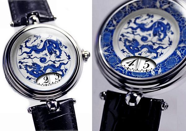 *Фарфоровые* часы из коллекции Angular Momentum