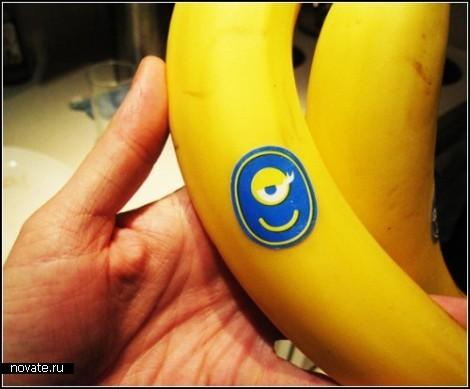 Прикольные наклейки на бананы от компании Chiquita