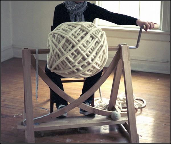 *Овечья* мебель от Крис Мейндертсма (Christien Meindertsma)