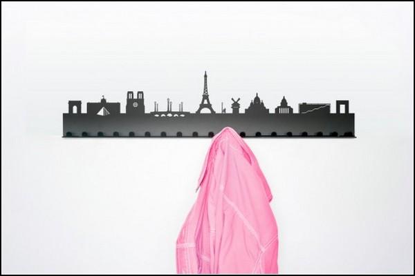 Пейзажи мегаполисов в виде вешалок City Coat rack