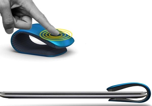 Мышь-клипса Clip Mouse, концептуальный манипулятор Фрэнка Гуо (Frank Guo)