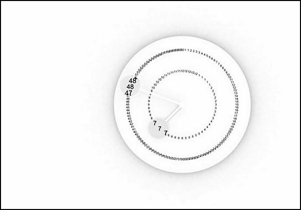 Увеличительные часы  Clock Agnan