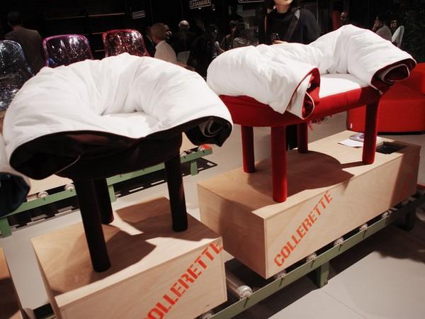 Мебель Collerette, или одеяло, встроенное в пуфик