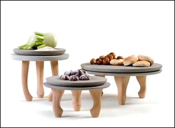 Бетонная посуда от Нира Мейри (Nir Meiri)