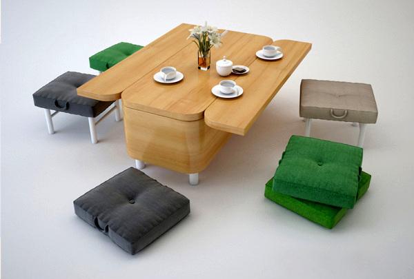 Convertible Sofa, диван, которые превращается в стол