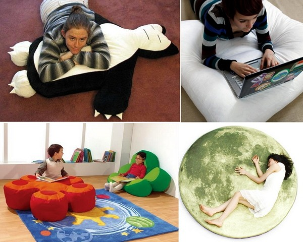 Обзор оригинальных подушек для лежания на полу