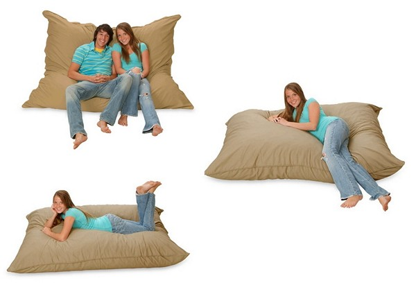 Huge Pillows As Sofas, Armchairs, Beds