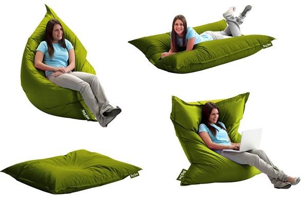 Огромные подушки как диваны, кресла, кровати