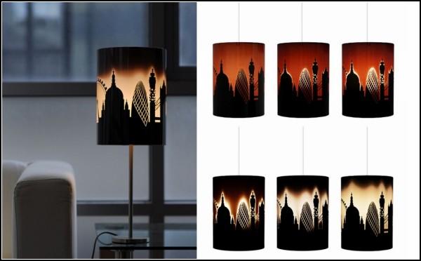 Лампа с абажуром London skyline lamp