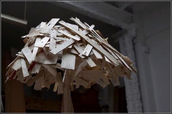 Абажур из остатков древесины