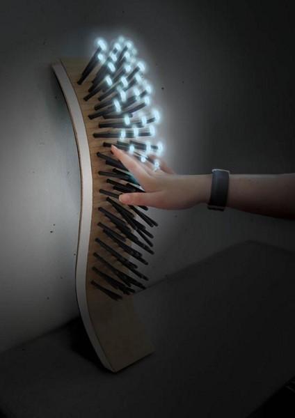 Интерактивный ночник с *ворсинками*-светодиодами