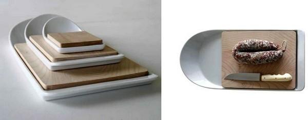 Удобная досточка Cut & Paste со встроенным фарфоровым контейнером