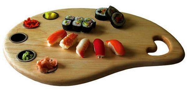 Досточка-поднос для приготовления и подачи суши