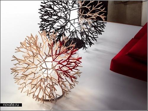 Креативных ламп coral ls дизайн от pallucco