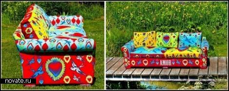 Абсурдная прелесть пестрой мебели от Corita Rose