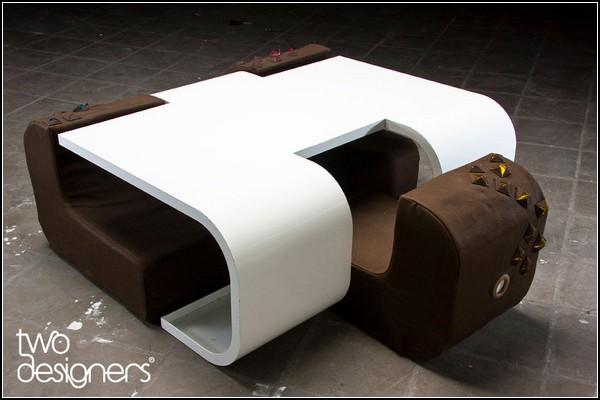 Уютный и изящный, журнальный столик Coz от Twodesigners Studio