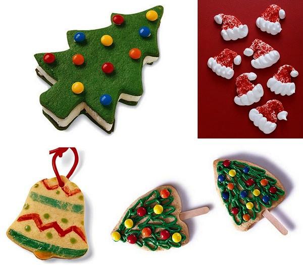 Традиционное фигурное печенье к новогоднему столу