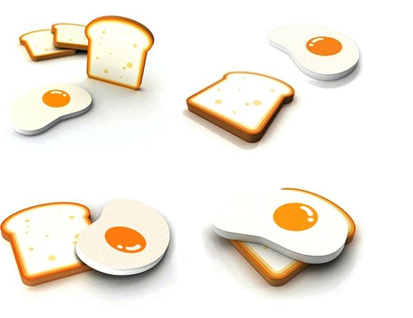 Стикеры в виде яичницы с тостом