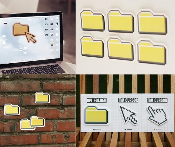 Офисные компьютерные стикеры