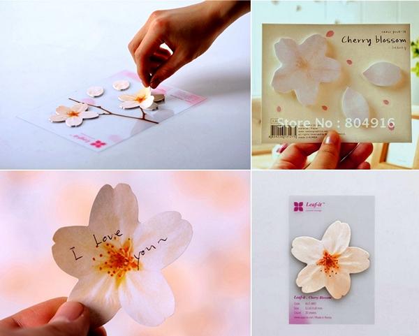 Весенние стикеры в виде цветочков и лепесточков