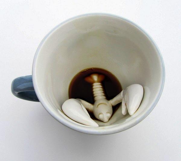 Необычные чашки из серии Creature cups от Yumi-Yumi