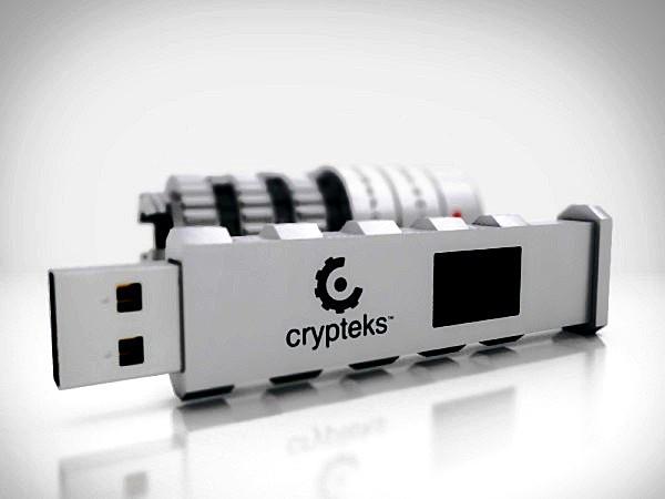 Crypteks USB Key, самая безопасная флешка с двумя уровнями защиты