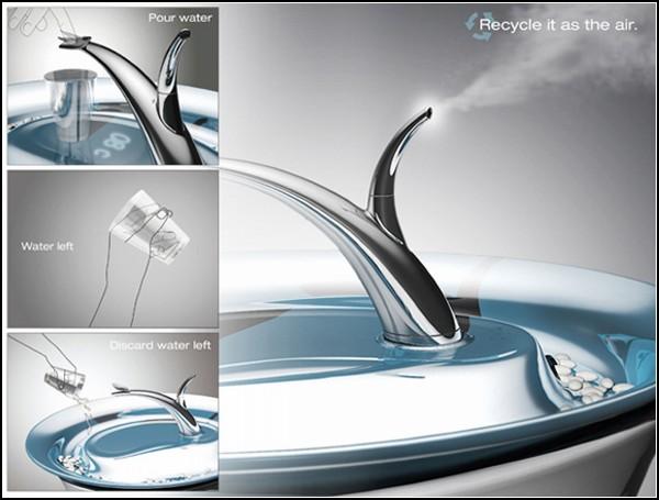 Crystal Clear, концепт для очистки воды и увлажнения воздуха