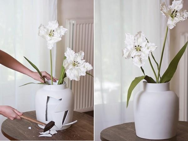 Curious Vase, предусмотрительная ваза с запасными вазами внутри