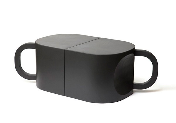 Flip Coffeecup от Daisuke Motogi. И стул, и стол из проекта Flip furniture.