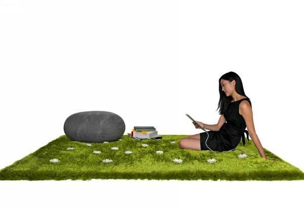 Daisy Garden Rug: весенний ковер в виде поляны с ромашками