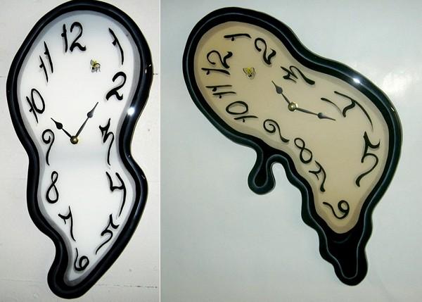 *Тающие* часы Melting Clocks в качестве настенных часов